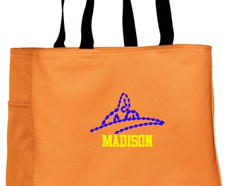 Personalized Tote Bag Embroidered Tote Bag Custom Tote Bag - Sports - Swimming - B0750