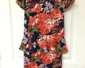 Peplum dress Babies-Size 12 With Fabric of your choice