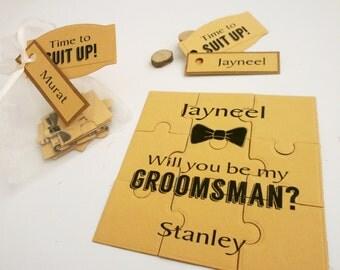 Will You Be My Groomsman, Groomsman Rustic Invitation, Be my Groomsman puzzle, Be my Best Man, Groomsman Proposal Card, Rustic invitation