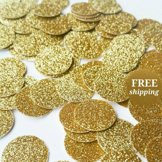 Gold Confetti Gold Circle Glitter Confetti Gold Confetti Table Confetti