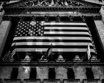 Black and White, New York City Photography, New York Stock Exchange , Fine Art Photography, NYC Pictures, Financial District