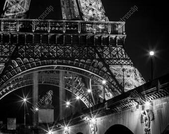 Black and White, Paris Photography, Paris France Photography , Fine Art Photography, Paris Pictures, Eiffel Tower prints, Pont D'Iena Bridge