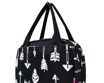 Black Arrow,  Lunch Box, Lunch Tote, Thermal Insulated, Monogramed