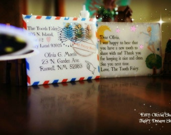 CUTE  EDITABLE Pink MINI Tooth Fairy letter with envelope!!