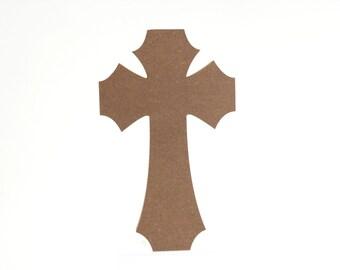 Large Cross MDF Mosaic Base - 12 Inch x 7.25 Inch (30.48 cm x 18.42 cm)