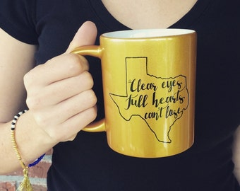 Gold Clear eyes, full hearts, can't lose Coffee Mug. Friday Night Lights - 021