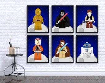 Star Wars Wall Print, Star Wars Wall Art, Star Wars Nursery Decor, Star Wars Digital Print, Star Wars Wall Decor, Star Wars Baby