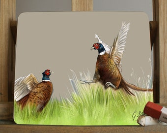 Pheasants Fighting Placemats/Coasters