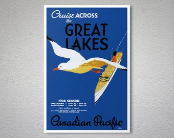 Great lakes sticker | Etsy