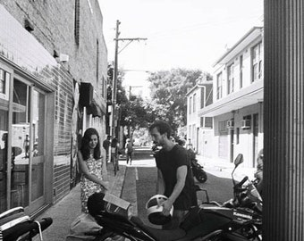 motorbike pictures - black and white photography - urban art print - city photos - street photography - people photos - office decor
