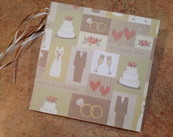 Wedding/Love/Bride and Groom 7x7 Scrapbook, Handmade Photo Album