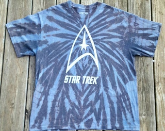 Star Trek Time Warp Reverse Tie Dye Shirt