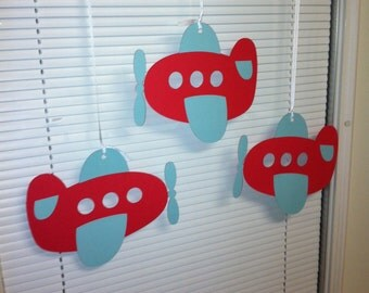 Airplane ceiling hangers, Airplane I am 1 banner, Airplane birthday banner, Airplane party, Airplane decorations