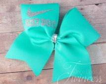 Cheer Bow - Aqua cheer bow - cheerleading bows - Customized cheer bow - practice bows - gifts for cheerleaders