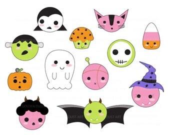 Cute halloween clipart – Etsy