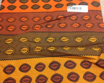 Cowrie shell African fabric six