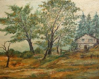 1998 Impressionist oil painting landscape signed
