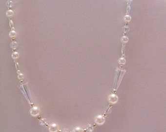 Childs necklace First Communion Necklace flower girl necklace childs pearl necklace childs crystal necklace cross necklace