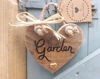 Handmade Vintage re-claimed wood Garden heart