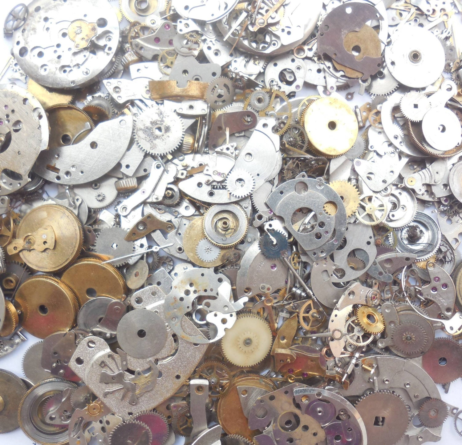 Ring In The Steampunk Decor To Pimp Up Your Home: 150gram Vintage Steampunk Watch Parts Wheels Parts Other