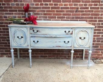 Server / Sideboard / Buffet / Painted Sideboard / Vintage Server / Painted Vintage Buffet / Shabby Chic Server