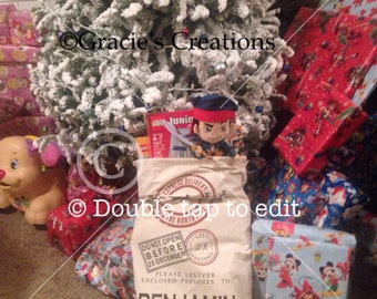 Personalized santa sacks 3  different styles available
