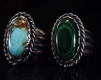 handmade silver ring with gemstone
