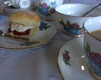 English tea set Crown Regent bone china