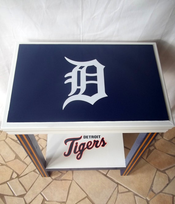 Items Similar To Detroit Tigers Inspired Sports Table Baseball Sports Decor Sports Furniture