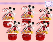 DIGITAL/Printable Mickey Mouse 2 cupcake toppers