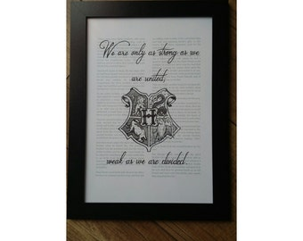 Hogwarts Houses - Harry Potter Calligraphy