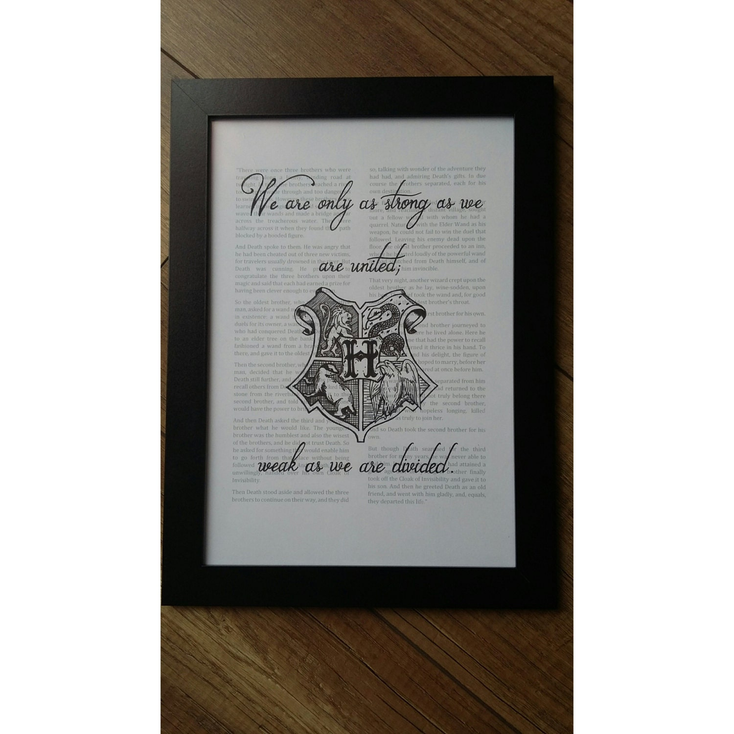 Hogwarts Houses Harry Potter Calligraphy