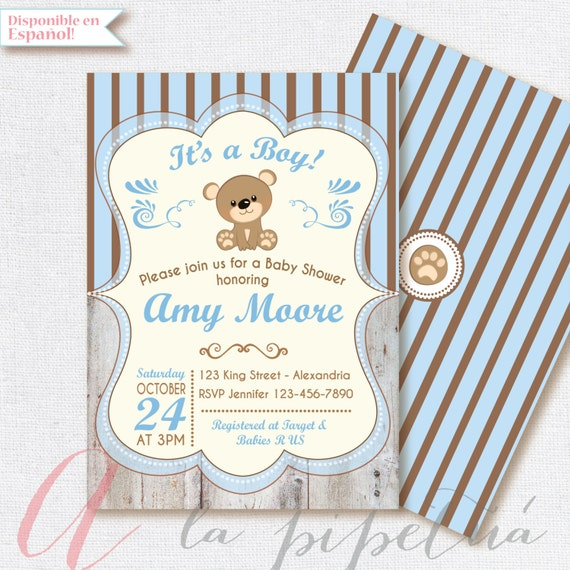20 Off Coupon On Baby Shower Invitation Baby Boy Bear Babyshower