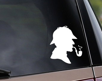 Vinyl Car Decal - Sherlock Holmes Inspired - Detective - Sleuth - Mystery