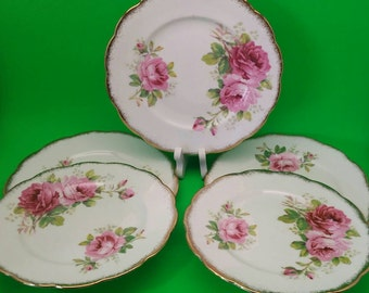 Royal Albert American Beauty Bread and Butter Plate x5