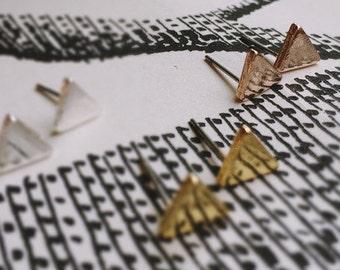 Triangle earrings - rose gold earrings geometric