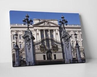 London UK Buckingham Palace Skyline Gallery Wrapped Canvas Print