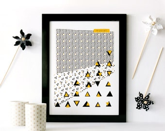 Poster A3 'In passing' - Poster 29, 7x42cm - original illustration GingerEnMai - Creation