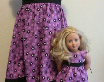 American Girl doll dress and matching girl dress size 6