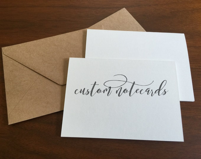 Custom Notecards Custom Print Cards Printed Cards for Event Businesses Bulk Printing on Matte Paper Printing Services Card Making Logo Free