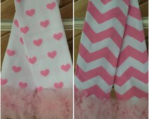 Pink & White Hearts or Chevron Leg Warmers/Headband,Photo prop,Toddlers, Baby girls gift, Valentine, Sister Sets