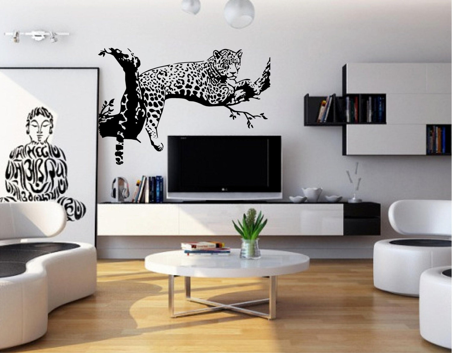 Large Leopard Tiger Art Room Home Removable Decor Wall Decal