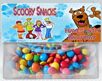 Scooby Doo Personalized Treat Bag Topper Set of 2 (Printable) (DIY)
