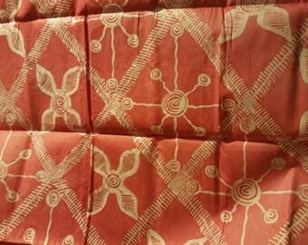 Hand designed batik Yardage 5yds