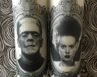 Bride of and Frankenstein Candle Set