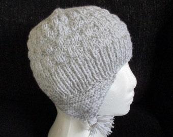 Childrens beanie hat capwith earflaps