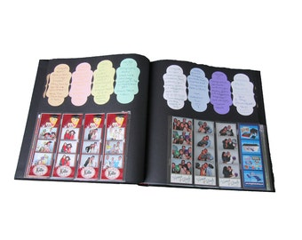 Photo Album Signature Stickers 2.375 in x 4.75 in / Pastel Purple