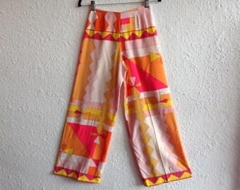 1960s Pucci silk printed pants
