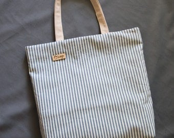 Everyday tote bag / oversized bag / casual bag / shoulder bag / cotton bag / spripped color
