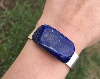 Blue Stone With Silver Flecks Etsy